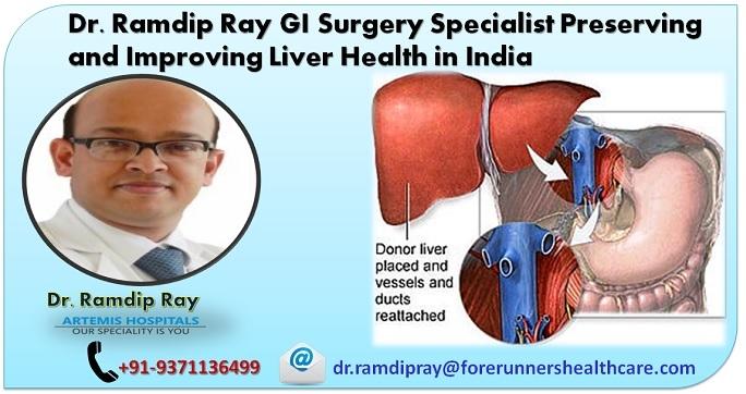 Dr. Ramdip Ray best liver transplant surgeon Artemis Gurgaon